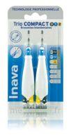 Inava Brossettes Tri Compact étroit  012 Noir 0,6mm/ Bleu 0,8mm/ Jaune 1mm à COLIGNY