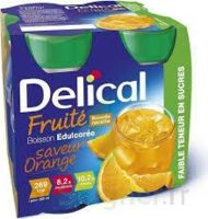 Delical Boisson Fruitee Nutriment édulcoré Orange 4bouteilles/200ml