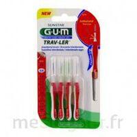 Gum Trav - Ler, 0,8 Mm, Manche Rouge , Blister 4 à COLIGNY