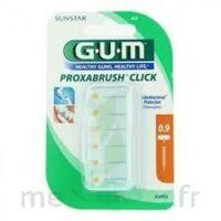 Gum Proxabrush Click, 0,9 Mm, Ocre Jaune , Blister 6 à COLIGNY