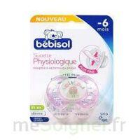 Bebisol Slim - Sucette Physiologique Silicone Nuit Fille T1 à COLIGNY