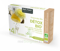 Nat&form Ampoules Solution Buvable Détox Bio 20 Ampoules/10ml à COLIGNY