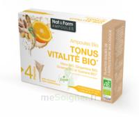 Nat&form Ampoules Solution Buvable Tonus Vitalité Bio 20 Ampoules/10ml à COLIGNY