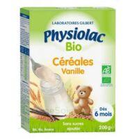 Physiolac Céréales Vanille Bio B/200g à COLIGNY